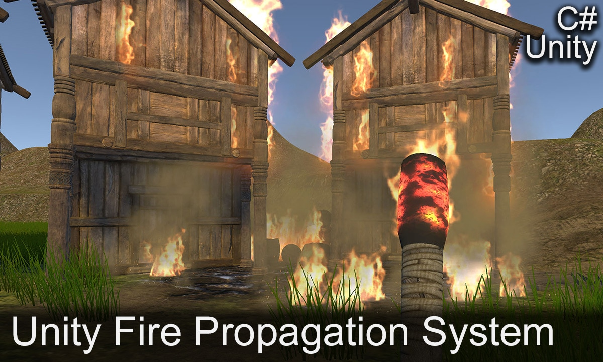 A real-time fire propagation system for outdoor environments used within games developed using Unity, written in C#.